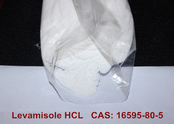 White Crystalline Pharmaceutical Raw Materials , Levamisole Hydrochloride HCL Powder