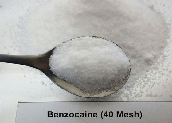 99.97% USP36 Local Anesthetic Benzocaine 40 Mesh / 200 Mesh White Crystal Powder